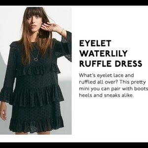 Madewell Eyelet Waterlily Ruffle dress